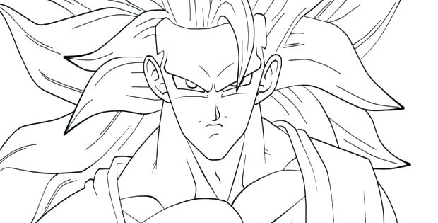 620x315 Goku Coloring Page Coloring Pages Dragon Ball Z Large Size