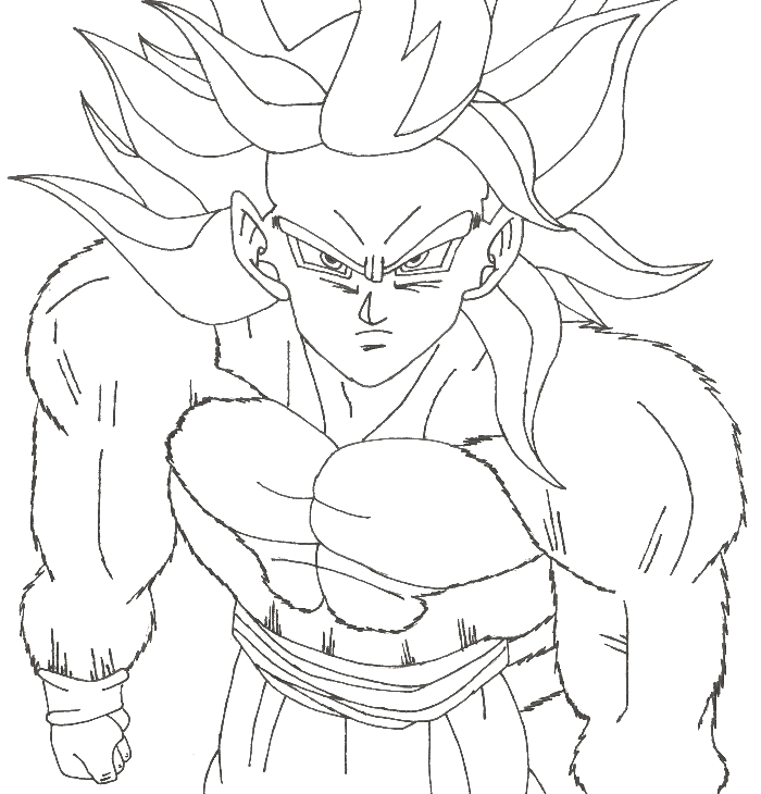 700x730 Goku Coloring Pages