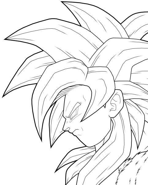 483x600 Goku Coloring Pages Marbal