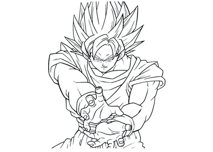 700x500 Goku Super Saiyan Coloring Pages Super Coloring Pages Super