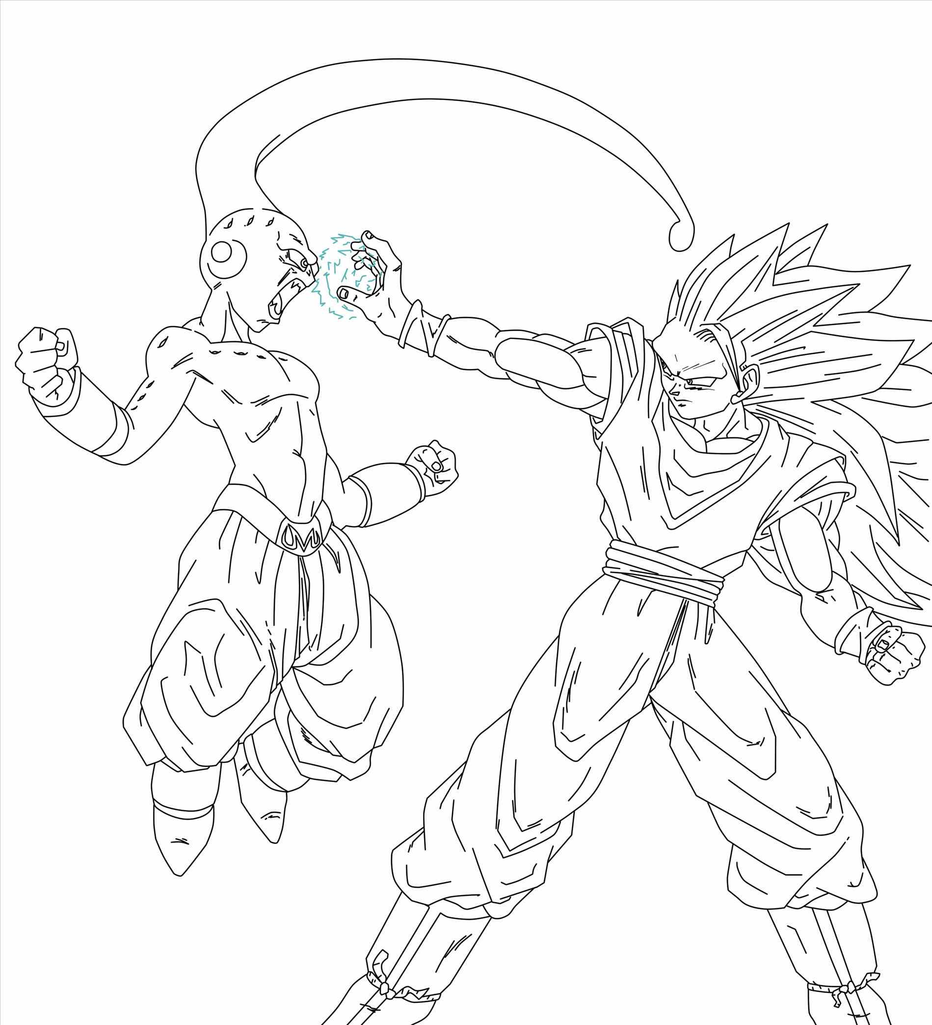 1899x2089 Printable For Kids Free Goku Ssj Coloring Pages Dr On Why Hagoromo
