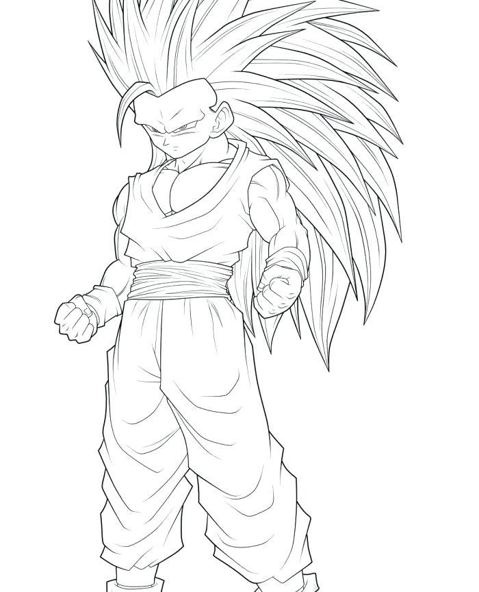 700x864 Dbz Goku Coloring Pages Printable Coloring Dragon Ball Z