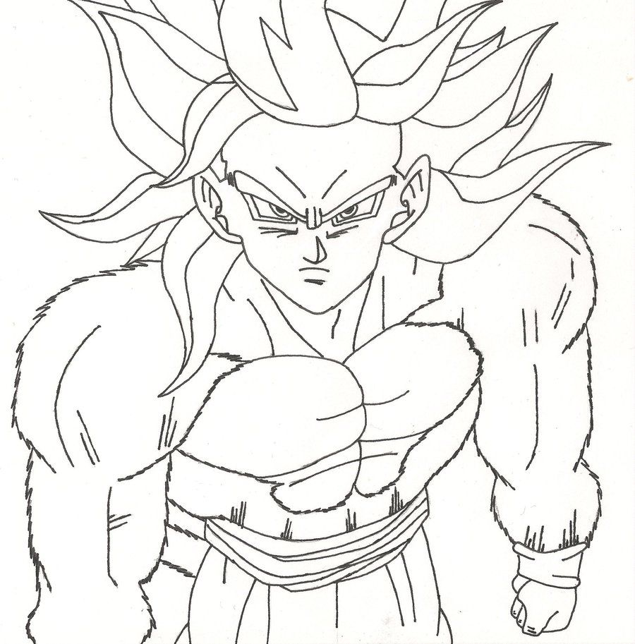 Ssj4 Goku Coloring Pages At Getdrawings Com Free For Personal Use