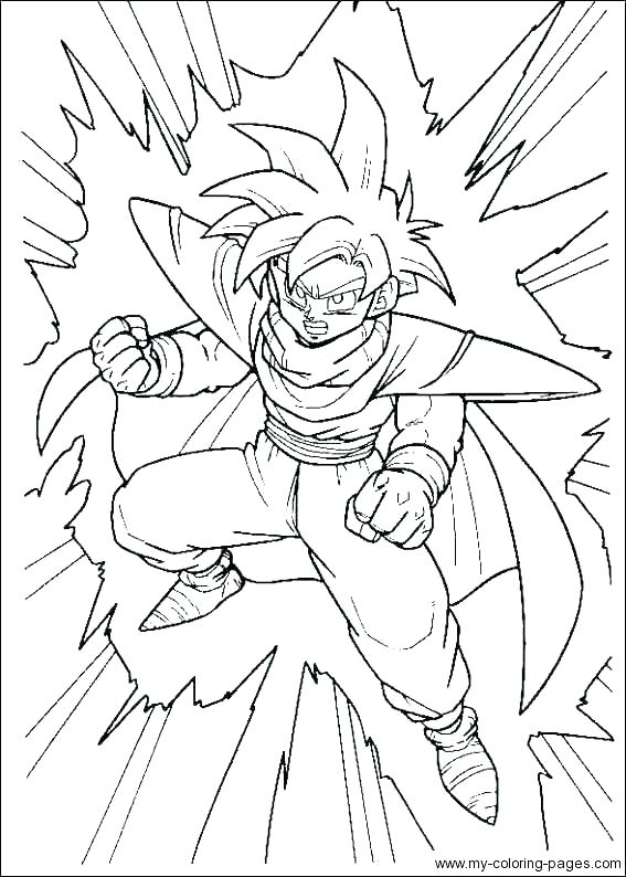 567x794 Dragon Ball Z Gt Colouring Pages Goku Coloring Pages Dragon