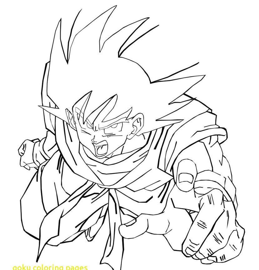 829x864 Free Goku Coloring Pages Dbz Son Super Saiyan Fresh God