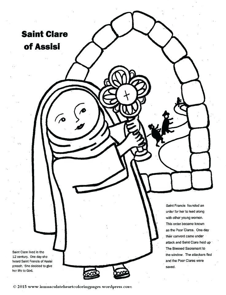 736x958 St Francis Coloring Page Saint Of Coloring Page Saint Francis