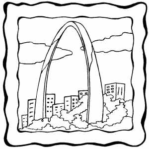 300x300 Gateway Arch Coloring Page