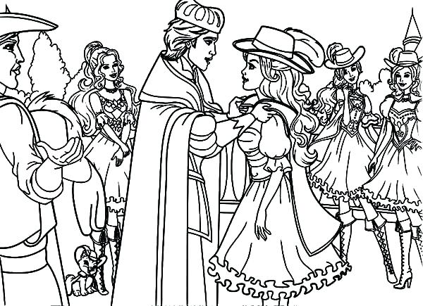 600x435 St Louis Coloring Pages Three Musketeers Of Barbie Musketeers Gets