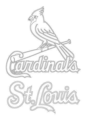 360x480 St Louis Cardinals Logo Coloring Page Stencils St