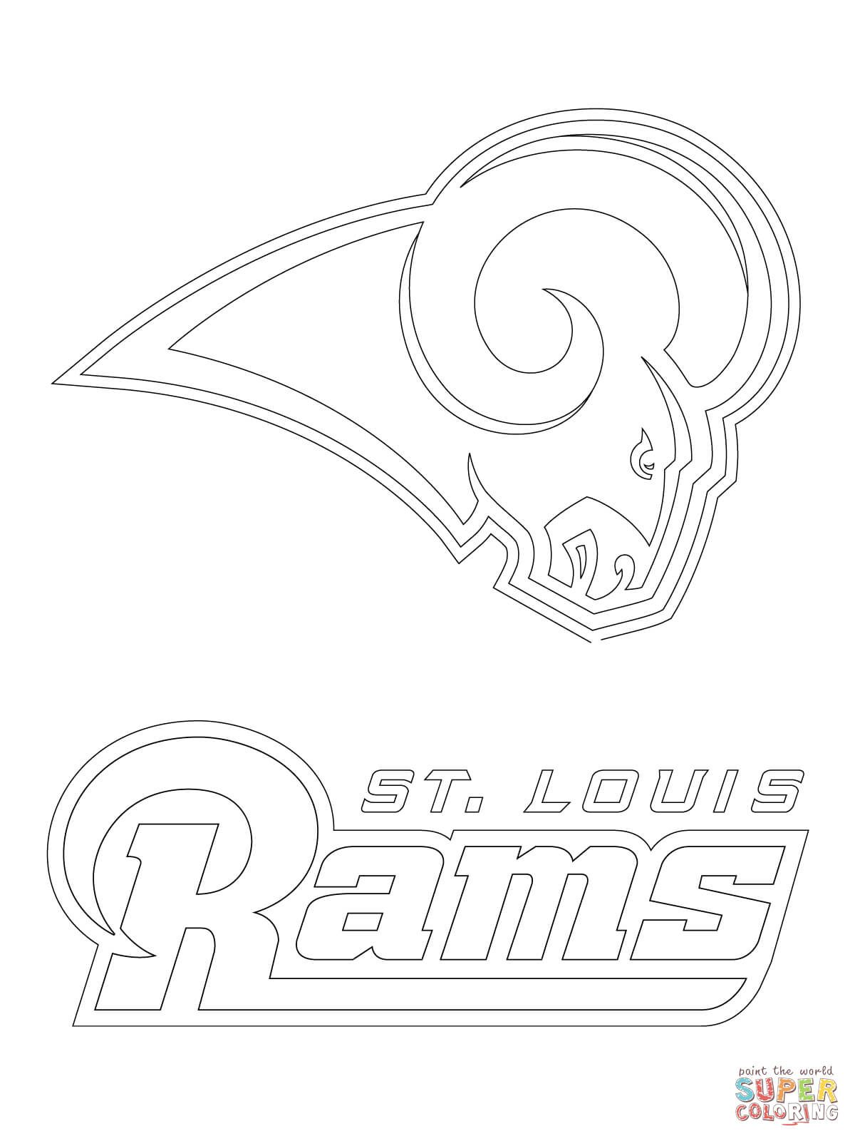 1200x1600 Click The St Louis Rams Logo Coloring Pages Page Free Printable