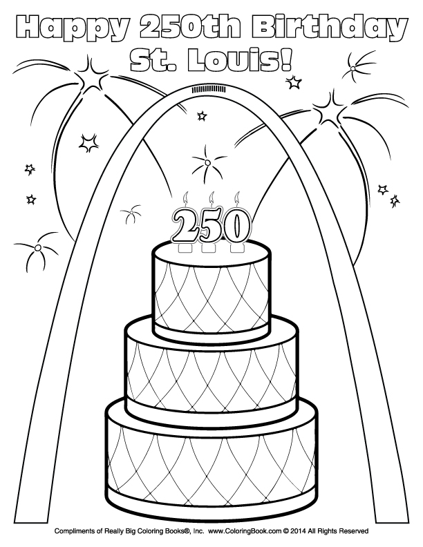 612x792 Coloring Books Free Online Coloring St Louis Birthday