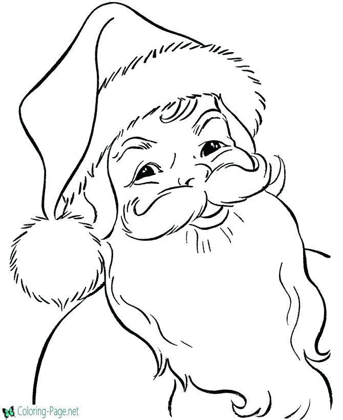 670x820 Coloring Pages Santa Near The Tree Big Coloring Page Coloring Page