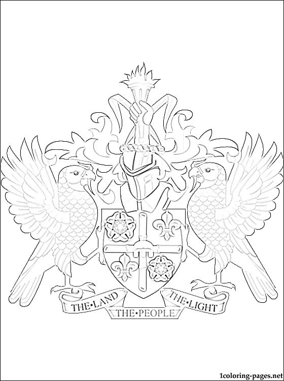 560x750 Saint Lucia Coat Of Arms Coloring Page Coloring Pages