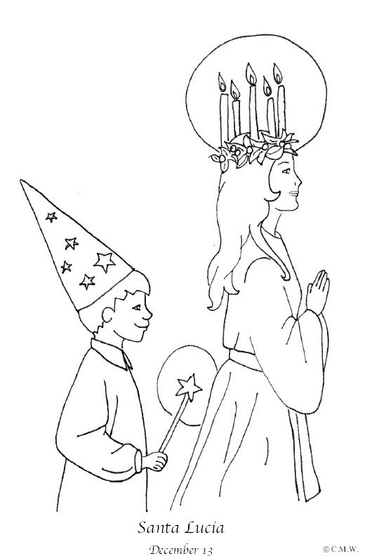 540x792 Week St Lucia Coloring Page Ccm Preschool Delta