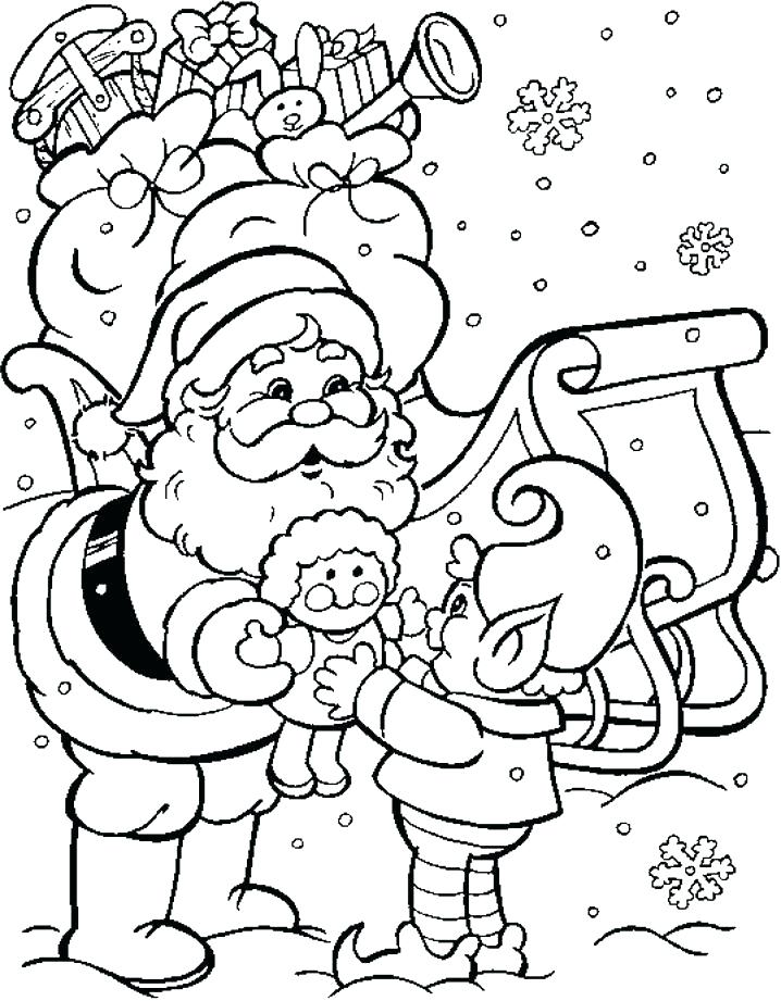 718x921 Coloring Pages Of Santa