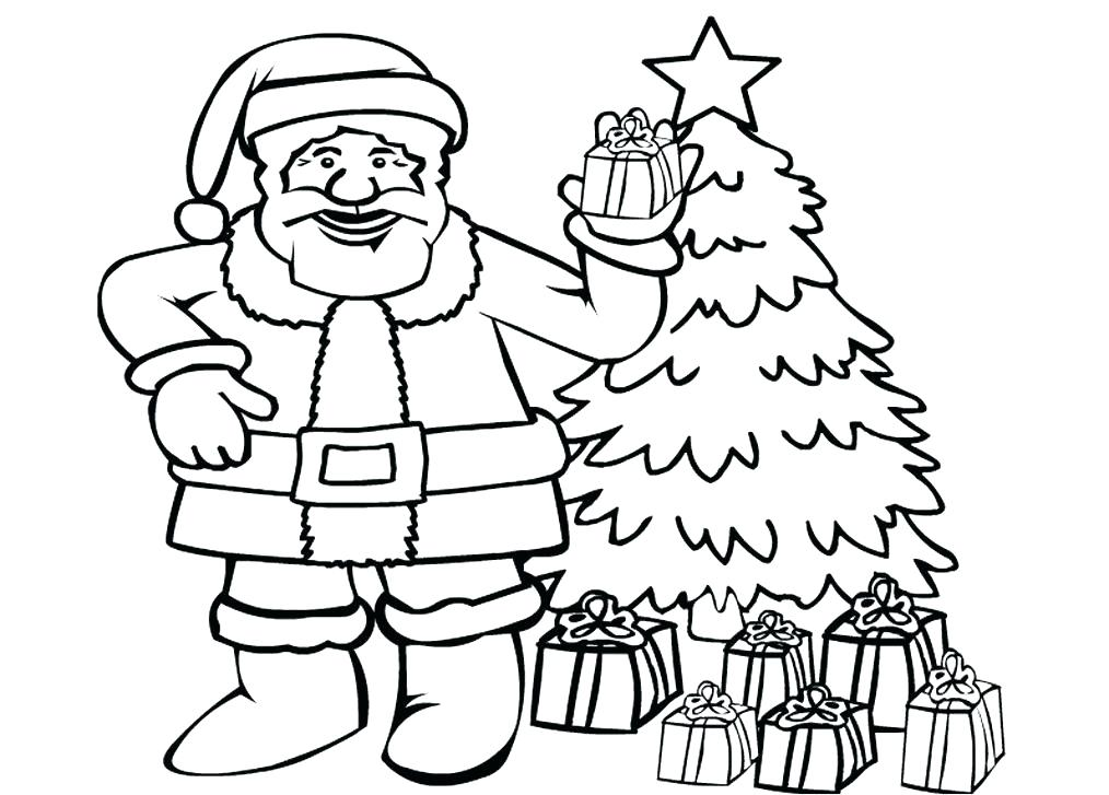 1014x727 Coloring Pages Of Santa