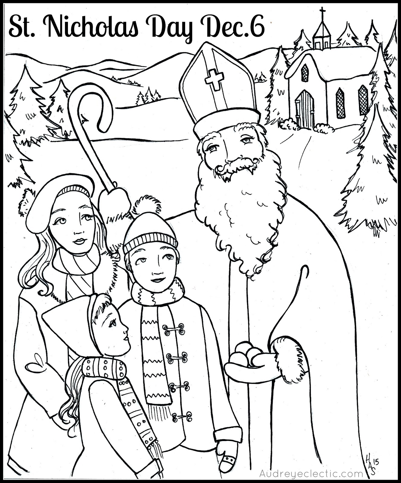 1328x1600 Free Printable St Nicholas Day!