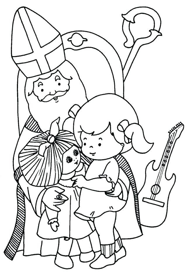 640x940 Saint Nicholas Coloring Pages Angels Shepherds Coloring Page St