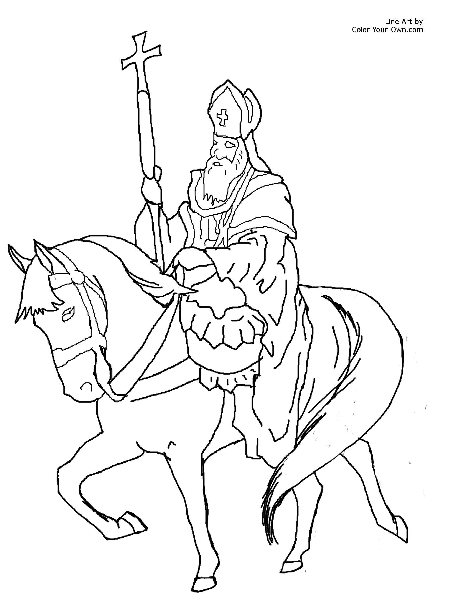 1794x2400 St Nicholas Coloring Page