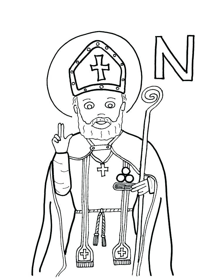 736x952 St Nicholas Coloring Page Saint Coloring Pages St Page Day Nick St