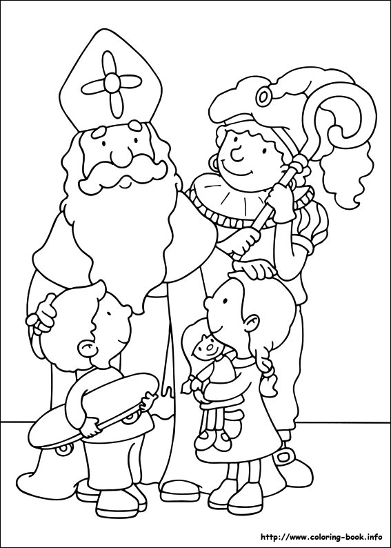 567x794 St Nicholas Day Coloring Pages