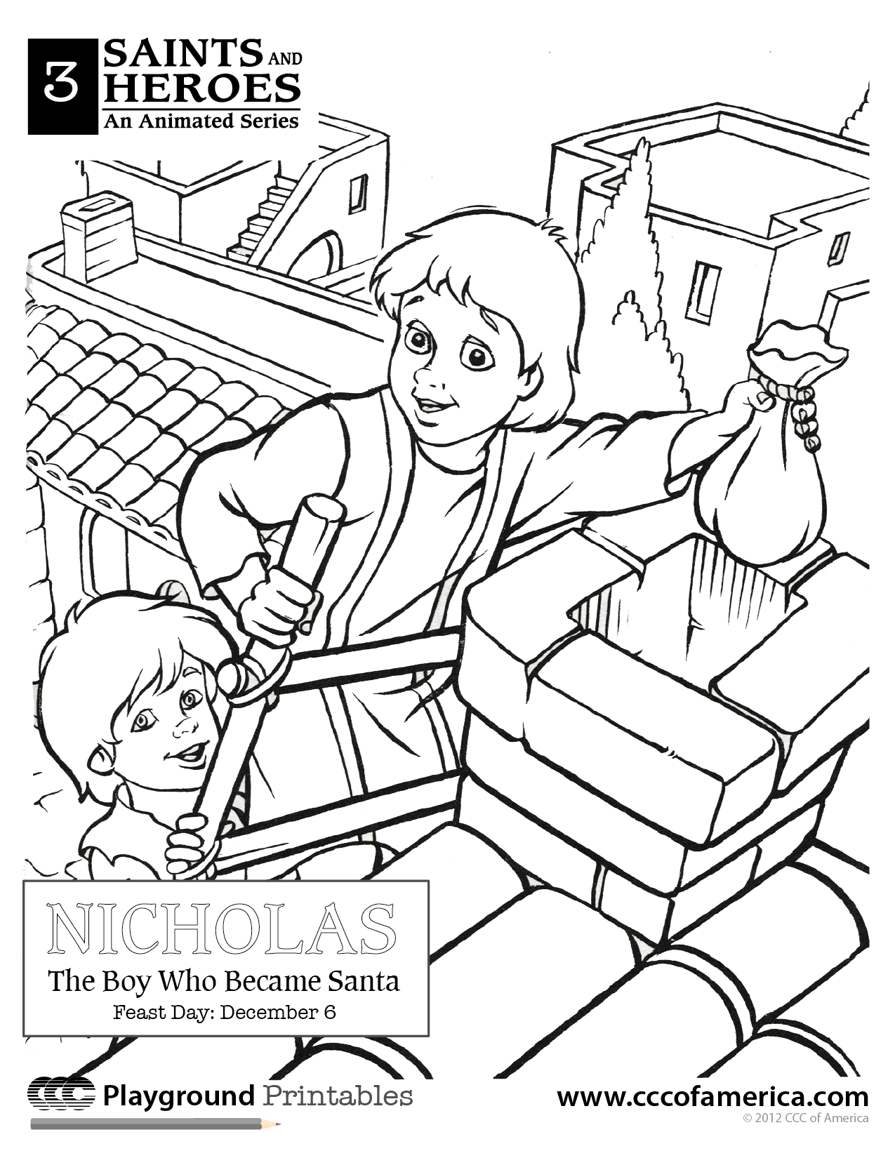 1275x1650 St Nicholas From The Ccc Movie! Catholic Coloring Pages
