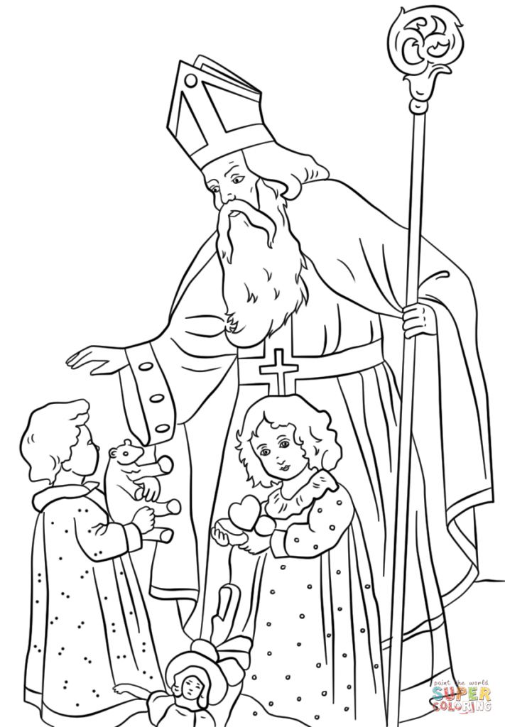711x1024 Coloring In St Nicholas Coloring Page