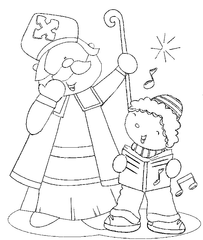 675x800 Coloring Page Saint Nicholas Day