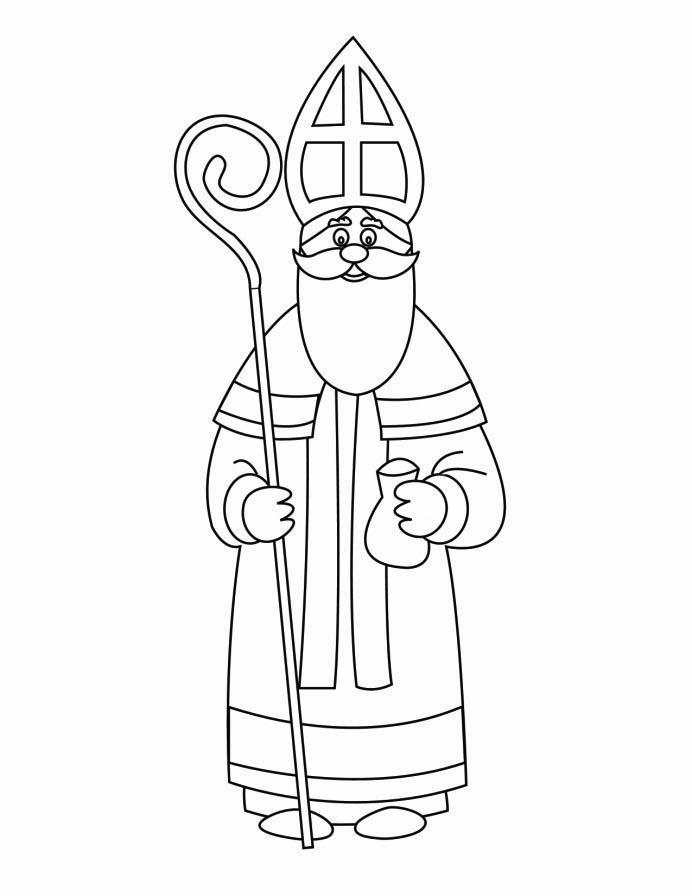 692x896 Coloring Page St Nicholas