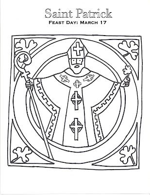 St Patrick Coloring Page Catholic