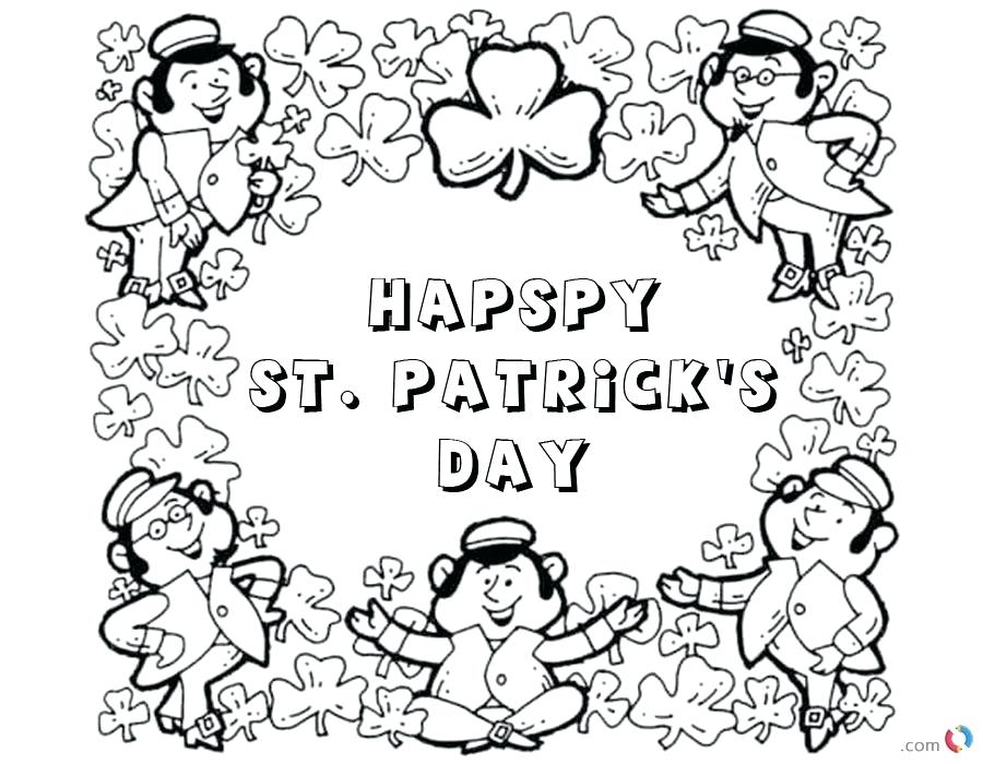 900x700 St Day Printable Coloring Pages For Adults Kids St Patrick Day