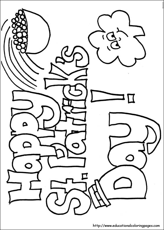 567x794 St Patrick Day Coloring Pages Free