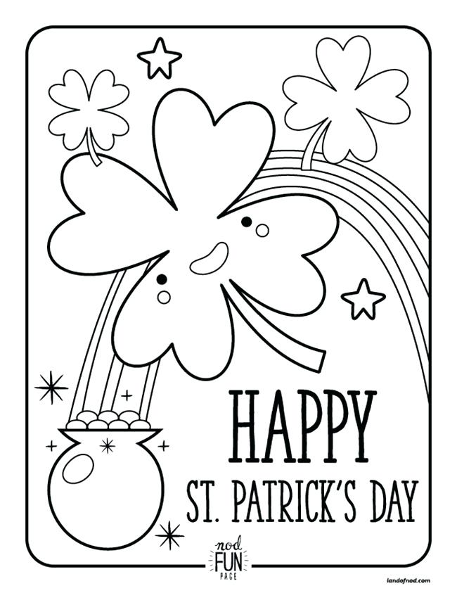 650x843 St Patrick Day Coloring Pages Free