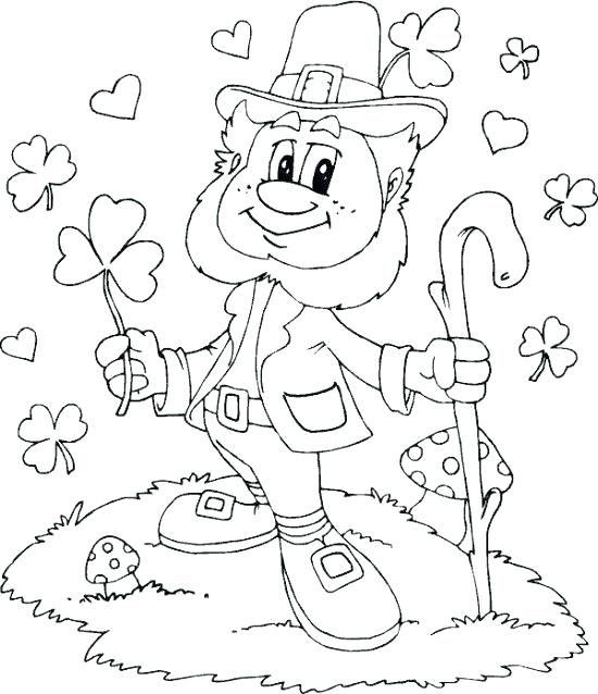 550x638 St Patrick Day Coloring Pages St Day Coloring Page St Patricks Day