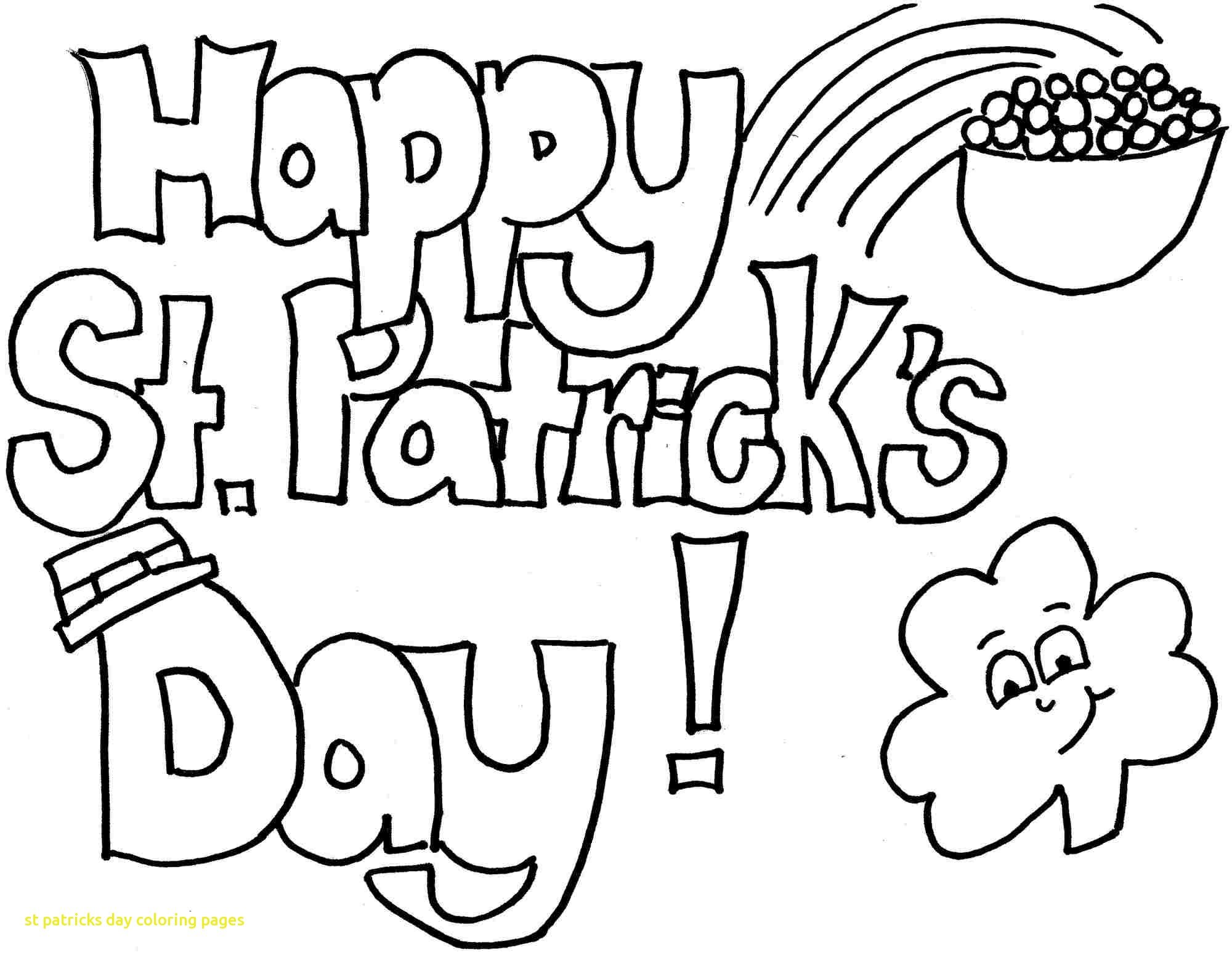 2000x1550 St Patricks Day Coloring Pages With St Patricks Day Coloring Pages