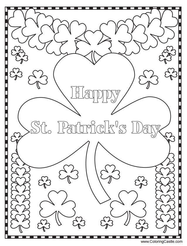 638x836 St Patrick Coloring Pages Free Free Printable St Patricks Day
