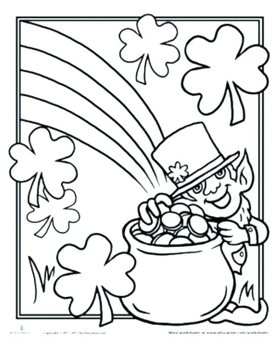 550x710 St Patrick Day Coloring Sheets