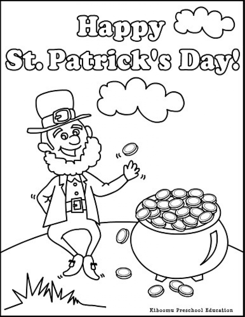 790x1024 Free Printable St Patrick Day Coloring Pages