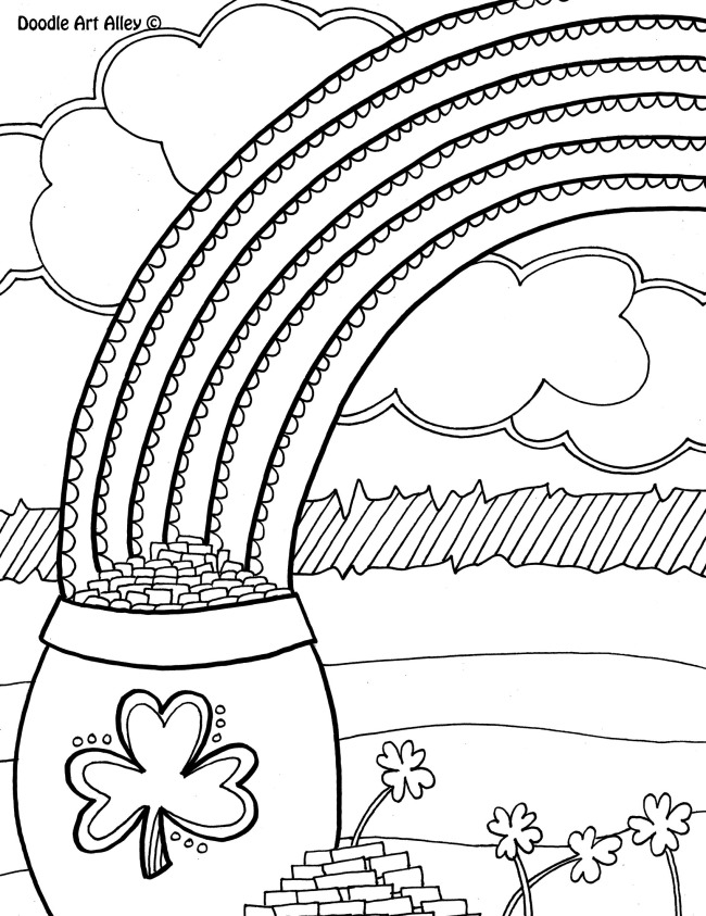 St Patrick Day Coloring Pages Disney