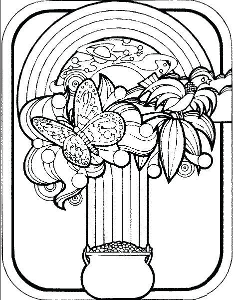 467x601 Pot Of Gold Coloring Pages St Day Pot Of Gold Coloring Page St