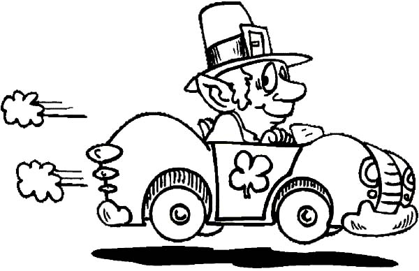 600x388 St Patrick's Day Car Driving Coloring Pages Best Place To Color