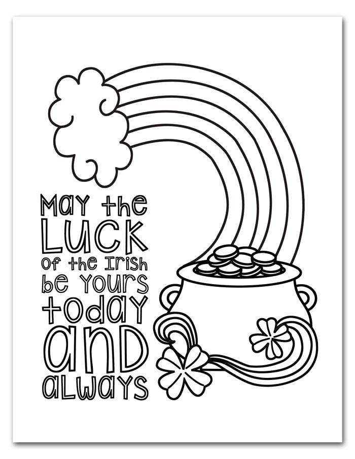 It's just a picture of Nerdy Printable St Patrick Day Coloring Pages