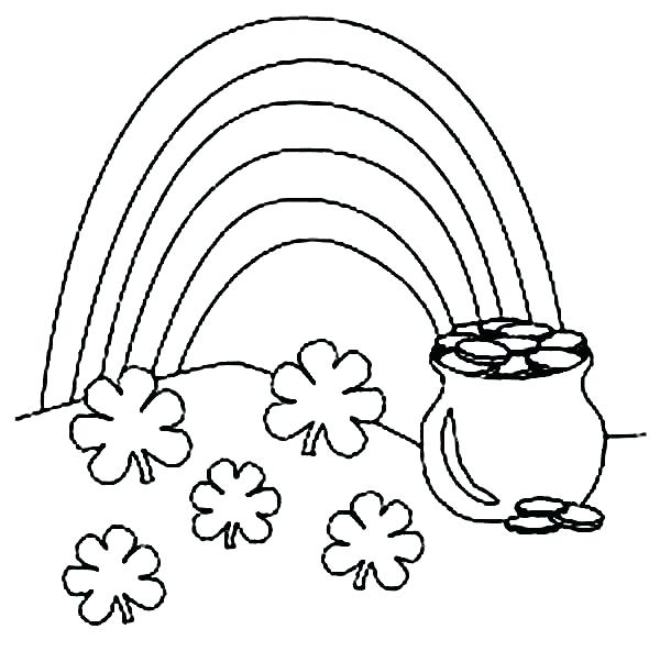 600x592 Coloring Pages St Patricks Day Shamrock Coloring Pages Shamrock