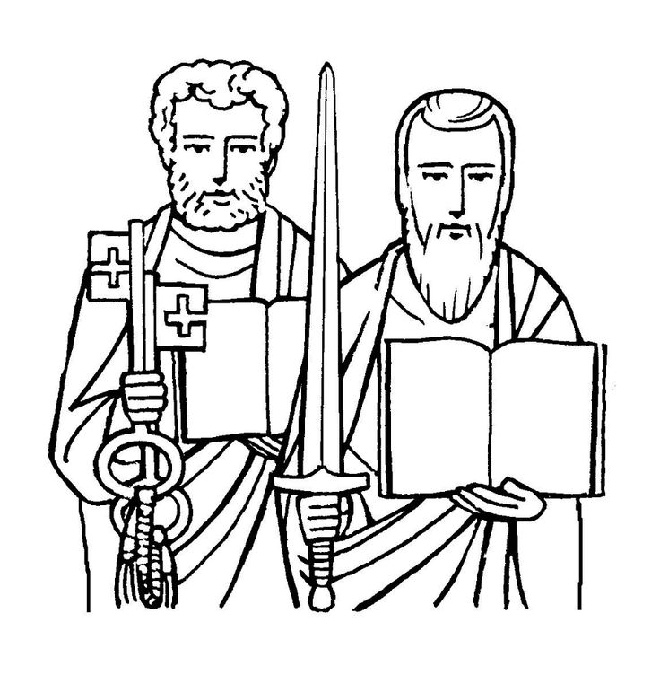 St Peter Coloring Page