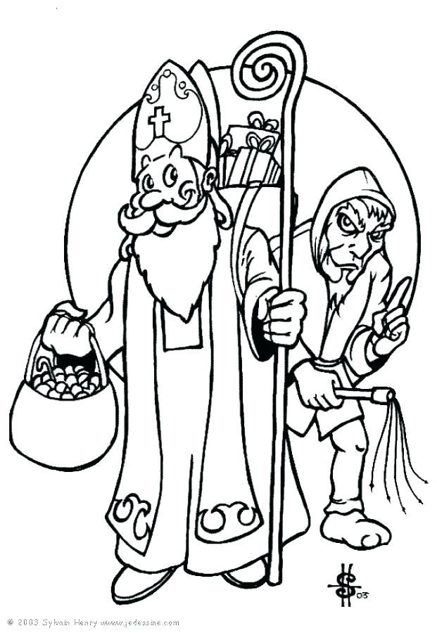 621x900 Saint Nicholas Coloring Pages Saint Coloring Pages With Saint