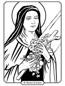 St Therese Coloring Page