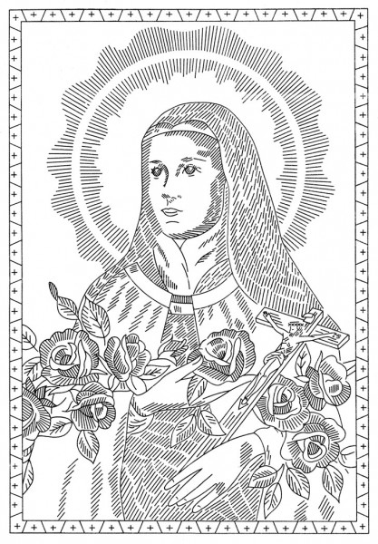 417x600 Strese Of Lisieux Coloring Page Lovely Free Pattern Friday