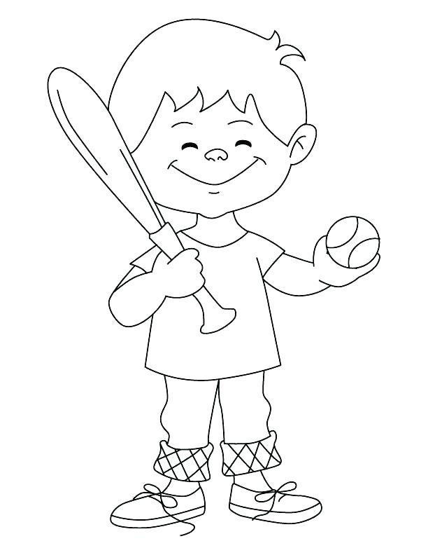 612x792 Baseball Color Pages Coloring Pages Of Baseball Baseball Color