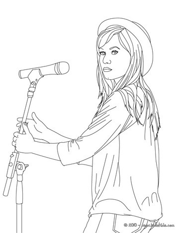 364x470 Demi Lovato On Stage Coloring Pages