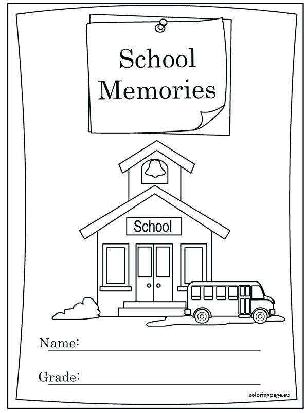 595x804 Educational Stage Coloring Pages End Of School Year Memory Book
